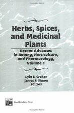 Herbs, Spices, and Medicinal Plants: Recent Advances in Botany,-ExLibrary