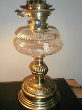 EXCELLENT COMPLETE WORKING DUPLEX OIL LAMP WITH HINKS & SON RISER BURNER