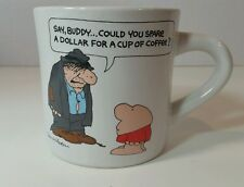 Vintage Ziggy Mug Tom Wilson Say Buddy, could you spare a dollar 1980s
