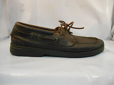 Sperry Top-Sider Brown Leather Boat Deck Shoes Men's Size 10 M