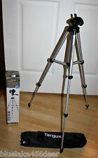 "50"" Tripod Bubble Targus Digital Level 3 Way Pan Quick Release Plate & Leg Locks"