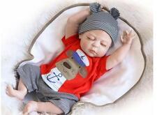 """22"""" Full Body Silicone Reborn Baby Sleeping Doll Soft Vinyl Lifelike Newborn Boy"""