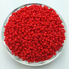 Wholesale 1000pcs 2mm Red Czech Glass Seed Spacer beads Jewelry Fitting