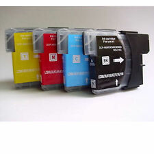 4 Brother LC980 LC1100 Ink Cartridge for DCP-145C/165C/195C MFC-5890CN 6490CW