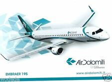 Airline Issue postcard Air Dolomiti Embraer 195 unused