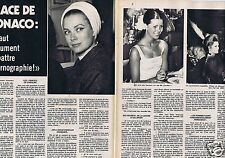 Coupure de presse Clipping 1974 Grace de Monaco Kelly (2 pages)