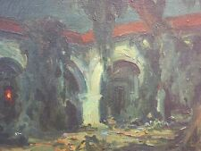 c.1920's Taos School southwestern painting Spanish colonial painting