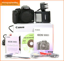 Canon EOS 500D 15MP DSLR Camera Body Battery Charger 5,870 Shots  Free UK Post