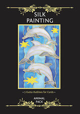 Silkcraft Silk Painting - Gutta Outlines - Card Making - Animal Pack (Pack of 5)