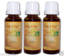 3 CitriCare - Citrus Seed extract. Weight Loss Candida;  Vim and Vigor CitraCare