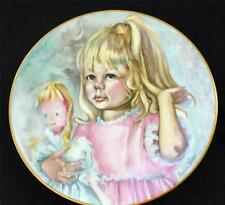 "Vintage 1976 CH FIELD HAVILAND LIMOGES France PINKY and BABY 7 1/2"" Decor Plate"