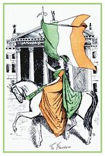 Retro Irish Independence Ireland 1920's Sinn Fein Ride To Freedom Poster