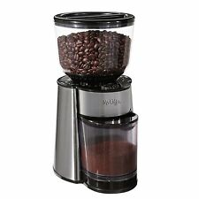 Coffee Grinder Automatic Burr Mill Grinder Mr Electric - Silver / Black