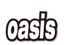 OASIS rock band vinyl sticker wall guitar suitcase luggage decal width 8cm #1680