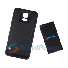 8680mAh Extended Life Battery+Black Cover For Samsung Galaxy S5 G900A i9600
