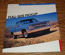 Original 1986 Chevrolet Truck Full-Size Pickup Sales Brochure 86 Chevy