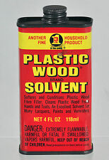Vintage Plastic Wood Solvent Tin (Empty) - Garage Advertising Collectable
