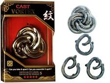HANAYAMA L5 CAST PUZZLE VORTEX METAL BRAIN TEASER MIND BENDER NOVELTY TRICK TOY