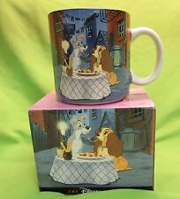 RARE Disney Vintage Lady and the Tramp Dog Coffee Mug Cup Ceramic Porcelain NEW
