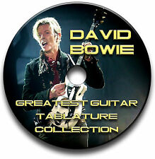 DAVID BOWIE POP ROCK GUITAR TABS TABLATURE SONG BOOK ANTHOLOGY SOFTWARE CD