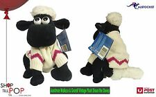"Aardman Wallace & Gromit Vintage Shaun the sheep 8"" Plush toy WITH TAGS 1989"