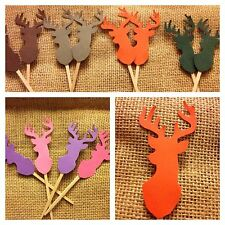 Deer Head Mount Cupcake toppers Picks For A Hunting Themed Party Boy Or Girl