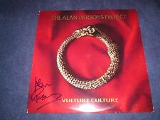 "ALAN PARSONS SIGNED VINYL RECORD TITLED ""VULTURE CULTURE"" PINK FLOYD  WOW PROOF!"