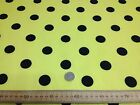 PolyCotton fabric * SPOTTED POLKA DOT * YELLOW with BLACK SPOTS * 25 MM SPOTS