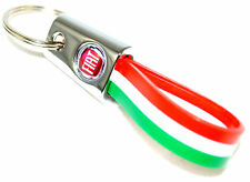 Fiat 500 Italian Stripe Key Ring Key Holder New + Genuine 46004500