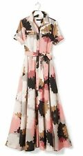 NWT BANANA REPUBLIC MAXI SHIRTDRESS SHIRT DRESS LONG FLORAL size 2 S XS Small