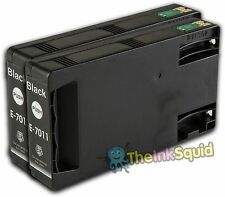 2 Black T7011 non-OEM Ink Cartridge For Epson Pro WP-4095DN WP-4515DN
