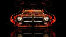 1971 Pontiac Firebird Trans Am FRONT (FLAMES) POSTER 24 X 36 INCH AWESOME!!!