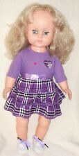 """Vintage 1960's 23"""" Blond Dressed Toddler Doll,Open & Close Eyes,Lashes,Shoes"""