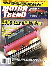 "1986 FORD TAURUS CAR OF THE YEAR MOTOR TREND REPRINT ""NOS"""