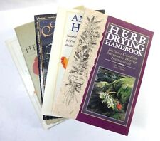 Lot (5) HERBAL Books: Guide Home Drying Elder Mother Nature's Growing Health