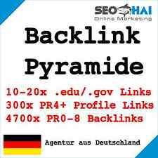 4700 PR0-8 + 300 PR4-8 + 10-20 EDU DoFollow Backlink Pyramide | SEO, Linkaufbau