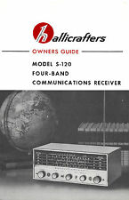 Hallicrafters S-120 4-Band AM Shortwave Radio Receiver Manual
