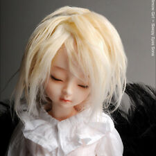 "Dollmore 1/4 BJD OOAK MSD Wig (7-8)""  Mohair Free Style Wig (D. Blonde)"