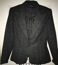 Ralph Lauren Vintage wool tweed country blazer jacket women's size 6 Purple tag