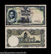 THAILAND 1 BAHT P74b 1955 KING BHUMIBOL RARE SIGN 34 CURRENCY MONEY BANK NOTE