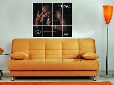"2PAC - ALL EYES ON ME 36""X32"" INCH MOSAIC WALL POSTER HIP HOP RAP TUPAC"