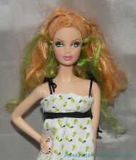 2007 BARBIE TOP MODEL Muse SUMMER STEFFIE FACE Red Hair & Green Streaks w/Outfit