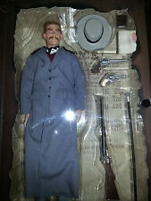 "SIDESHOW SIX GUNS LEGENDS 12"" DOC HOLLIDAY ACTION FIGURE NEW SEALED IN BOX"
