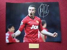 "MANCHESTER UNITED ROBIN VAN PERSIE HAND SIGNED 16""x12"" PHOTO - EXACT PROOF COA"