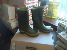 Hunter Wellies Wellingtons en Halifax Talla 5 jardinero Boot Corto Pierna Ancha
