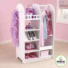 Little Girls Complete Dress Up Custume Clothes Dresser Wood Storage Organizer