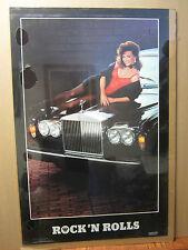 Rock 'n Rolls Hot girl ORIGINAL man cave car garage Vintage Poster 862