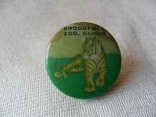 great vintage BROOKFIELD ZOO, ILLINOIS Tiger pin lapel button badge,free u.k.p&p