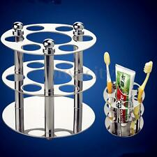 Polished Stainless Toothbrush Toothpaste Holder Stand Bathroom Razor Organizer