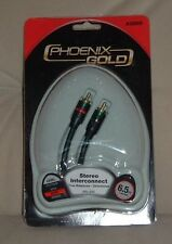 Pair of Phoenix Gold Stereo Interconnects, Silver level, 6.5 ft., RCA jacks